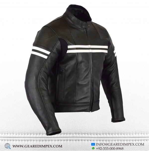 MOTORCYCLE WOMEN CAFERACER ARMOUR LEATHER JACKET S