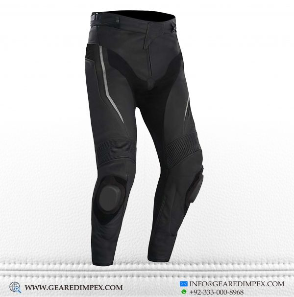 MTOROCYCLE CRUISE RIDING LEATHER TROUSER